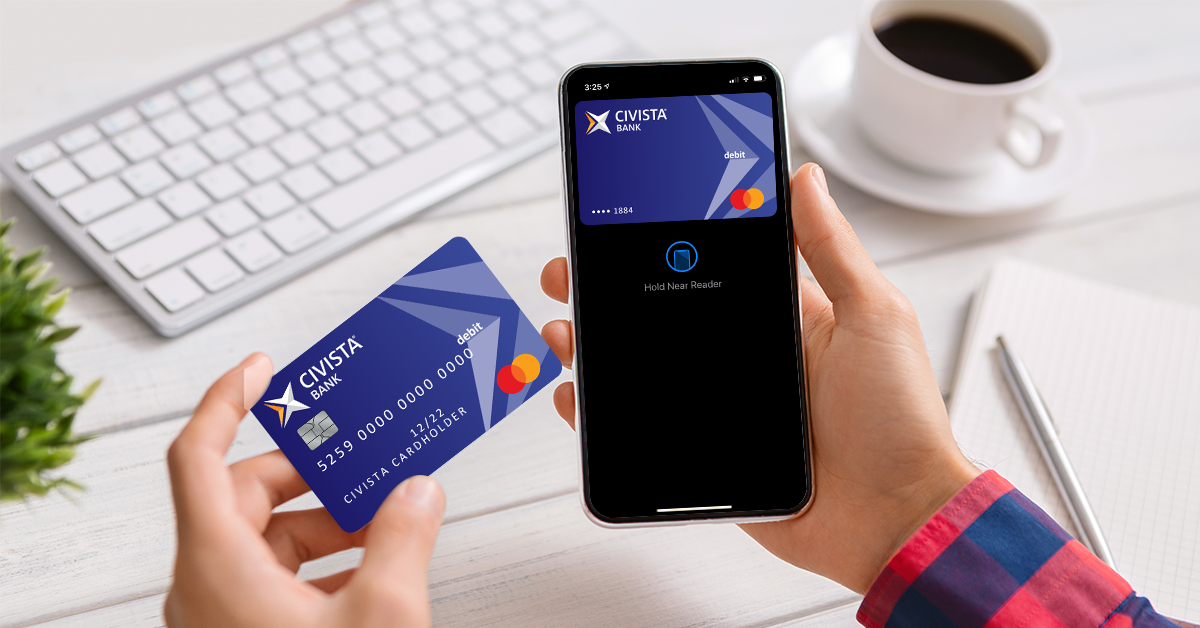Adding Civista debit card to digital wallet